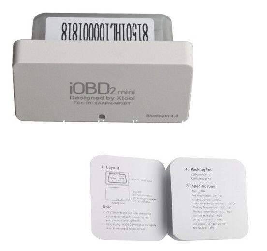 Mini iOBD2 OBDII EOBD Code Scanner Xtool Diagnostic Tool Bluetooth 4.0 for iOS and Android