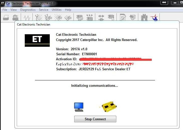 Caterpillar ET 2017A V1.0 Electronic Automotive Technician Diagnostic Software 01/2017