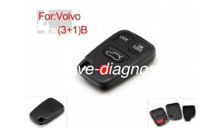 Volvo Remote Shell 3+1 Button Volvo Key Case / Car Key Blanks for Volvo