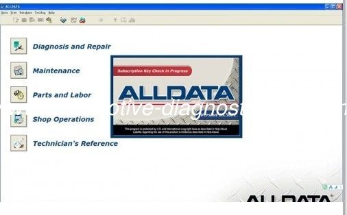 Alldata V10.52 Automotive Diagnostic Software For Cars / Light Trucks