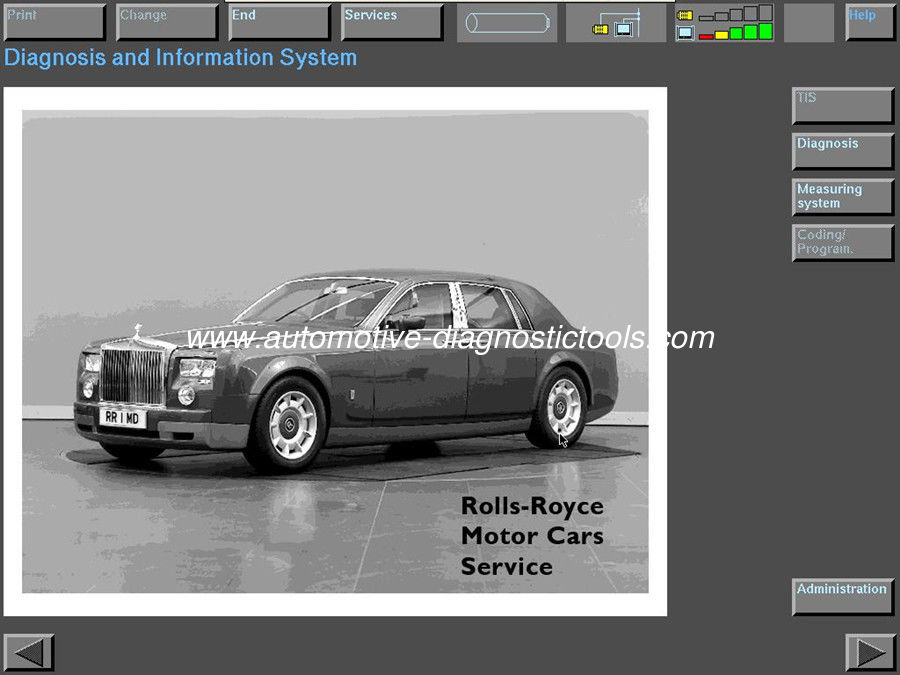 Rolls Royce 200301-200901 Automotive Diagnostic Software With IBM T30 Hard Drive